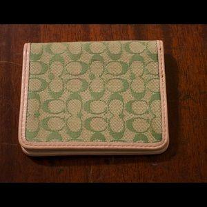 Green Coach wallet!